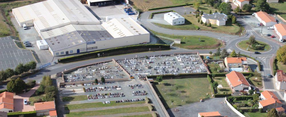 vue aérienne Cimetière